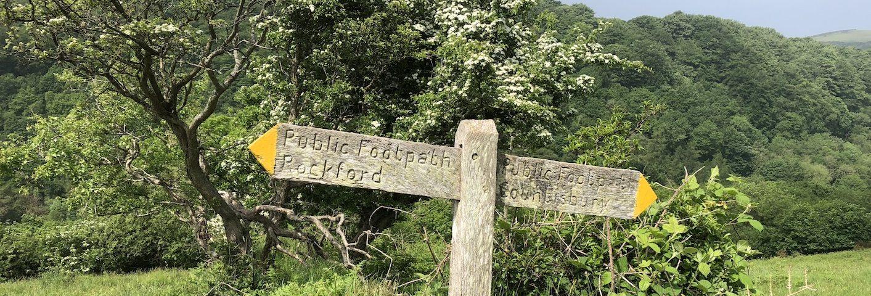 Walking West Exmoor footpath