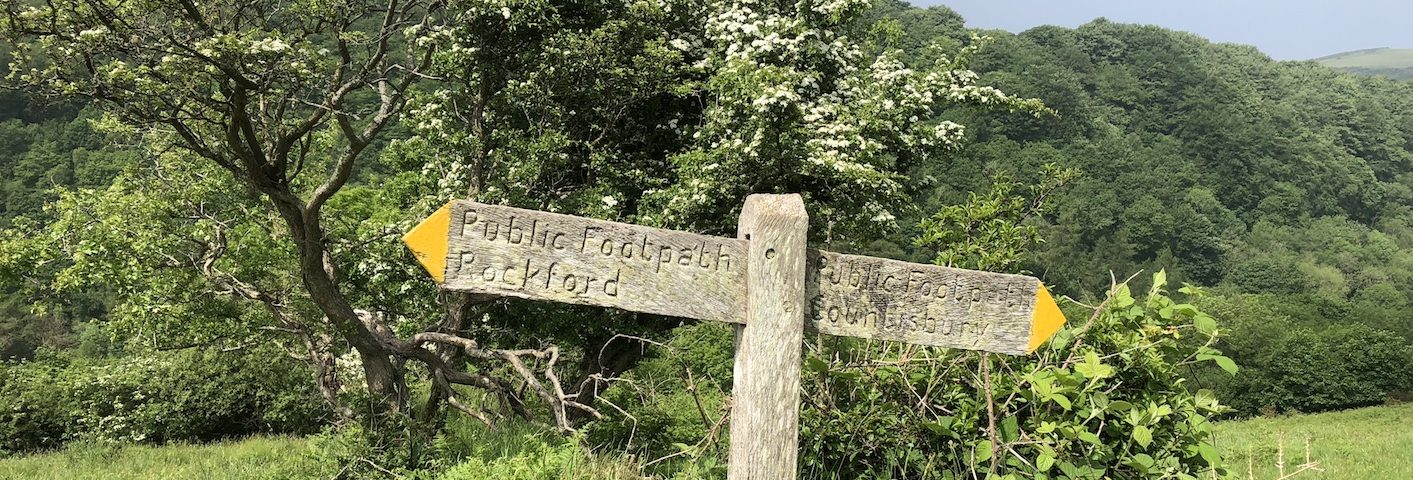 Walking West Exmoor footpath