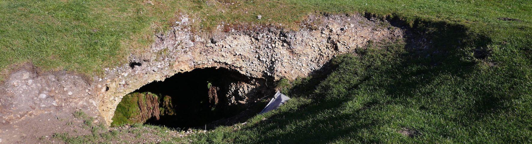 Sinkhole Bronkham Hill